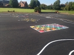 Line Marking to the New Playground at Holy Family Catholic School Witham